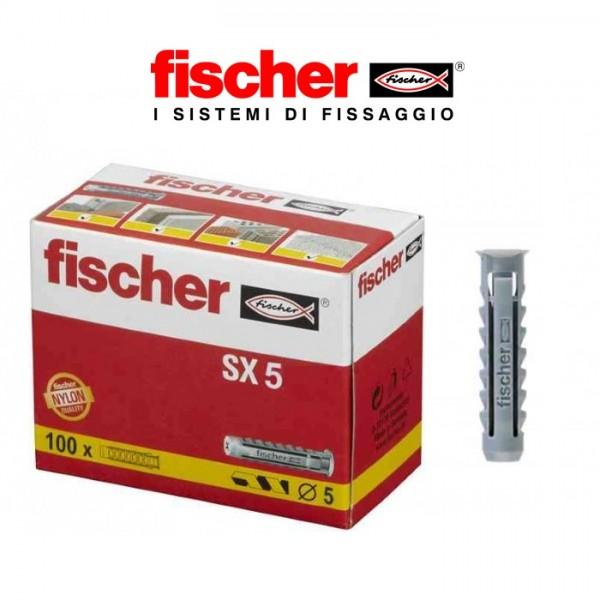 FISCHER SX TASSELLI TASSELLO SENZA VITE MURO MATTONI CEMENTO FORO 5 6 8 10 12 14
