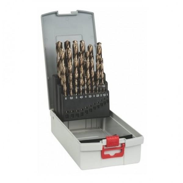 BOSCH SERIE 25 PUNTE DA 1 A 13 mm AL COBALTO PER ACCIAIO INOX HSS-CO 2608587018