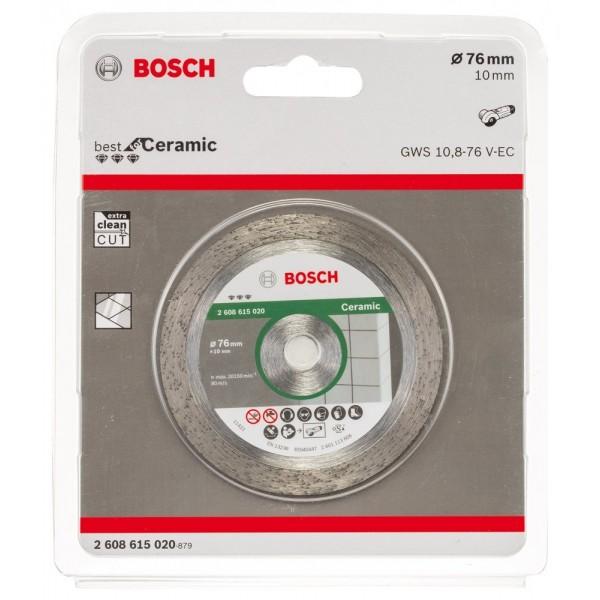 BOSCH 2608615020 DISCO DIAMANTATO D. 76 mm PER SMERIGLIATRICE GWS 10,8 GWS 12 V