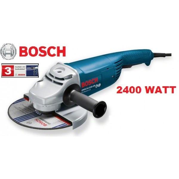 BOSCH GWS 24-230 JH SMERIGLIATRICE ANGOLARE 2400 WATT PROFESSIONALE GRANDE