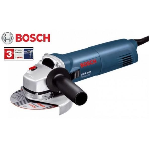 BOSCH GWS 1000 WATT SMERIGLIATRICE ANGOLARE  PROFESSIONALE DISCO DA 125 MM