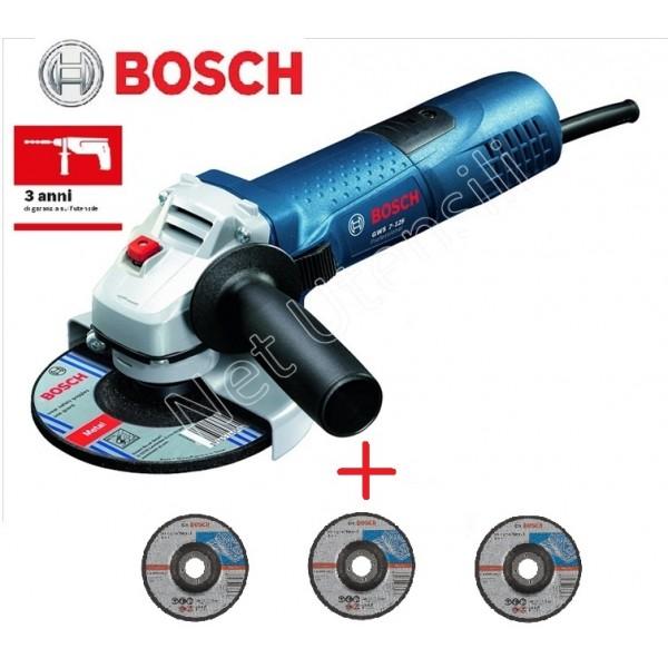 BOSCH GWS 7-125 SMERIGLIATRICE ANGOLARE PICCOLA PROFESSIONALE 720 WATT +3 DISCHI