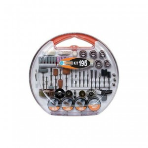 PG TOOLS KIT 195A SET ACCESSORI UNIVERSALI PER MINI TRAPANO 195 PEZZI ASSORTITI