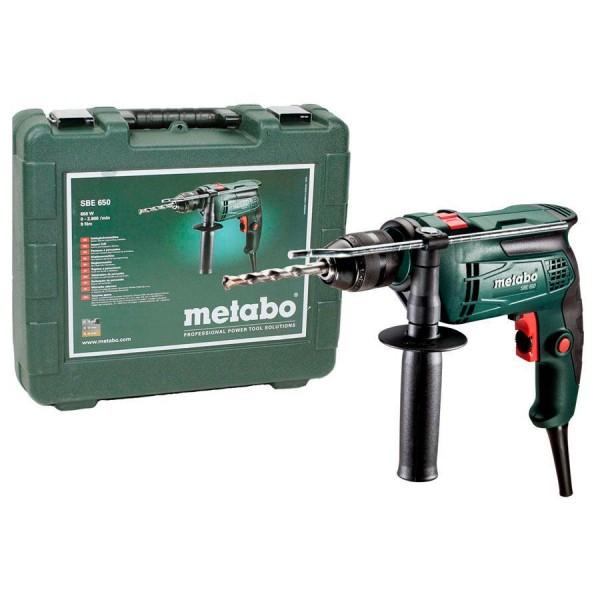 METABO SBE 650 TRAPANO A PERCUSSIONE VALIGETTA 650 WATT 9 Nm