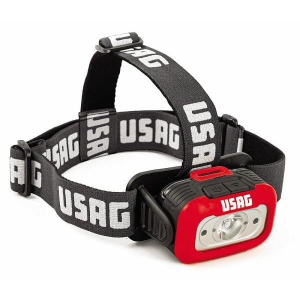USAG 889 LTE TORCIA LUCE LAMPADA FRONTALE DA TESTA A LED SENSORE DI MOVIMENTO