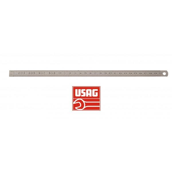 USAG 978 A RIGHE RIGHELLO RIGA FLESSIBILE GRADUATE MILLIMETRATE IN ACCIAIO INOX