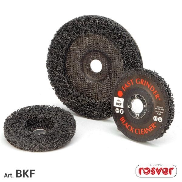 ROSVER BKF DISCO DISCHI BLACK CLEANER SU FIBRA Ø115 PER SMERIGLIATRICI ANGOLARI