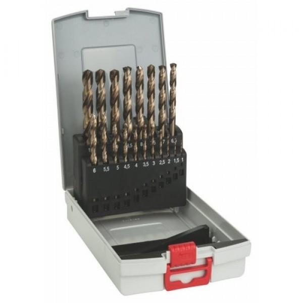 BOSCH SERIE 19 PUNTE DA 1 A 10 mm AL COBALTO PER ACCIAIO INOX HSS-CO 2608587014