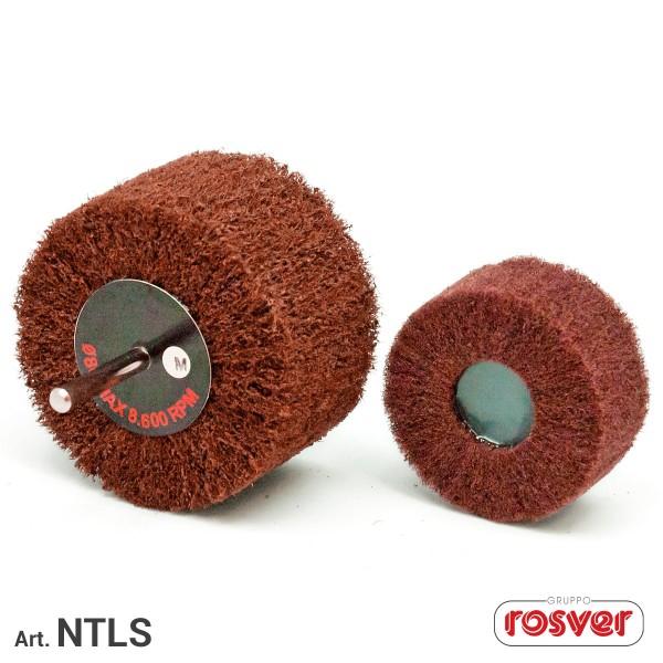 ROSVER NTLS RUOTA RUOTE LAMELLARI ABRASIVE IN NON TESSUTO CON GAMBO 6 mm