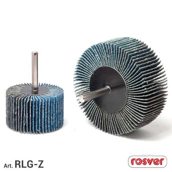 ROSVER RLG-Z RUOTE LAMELLARI IN TELA ABRASIVA ALLO ZIRCONIO 40-20-40 GAMBO 6 mm
