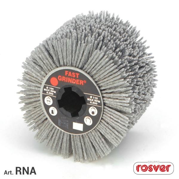 ROSVER RNA RUOTA RUOTE IN FILO DI NYLON ABRASIVO PER LEGNO E METALLI G. 80 Ø100