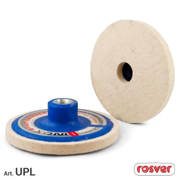 ROSVER UPL DISCO DISCHI ONE STEP PER LUCIDATURA Ø115 FORO M14 PER INOX