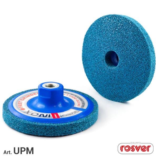 ROSVER UPM DISCO DISCHI ONE STEP PER ABRASIONE E FINITURA FORO M14 Ø115 PER INOX